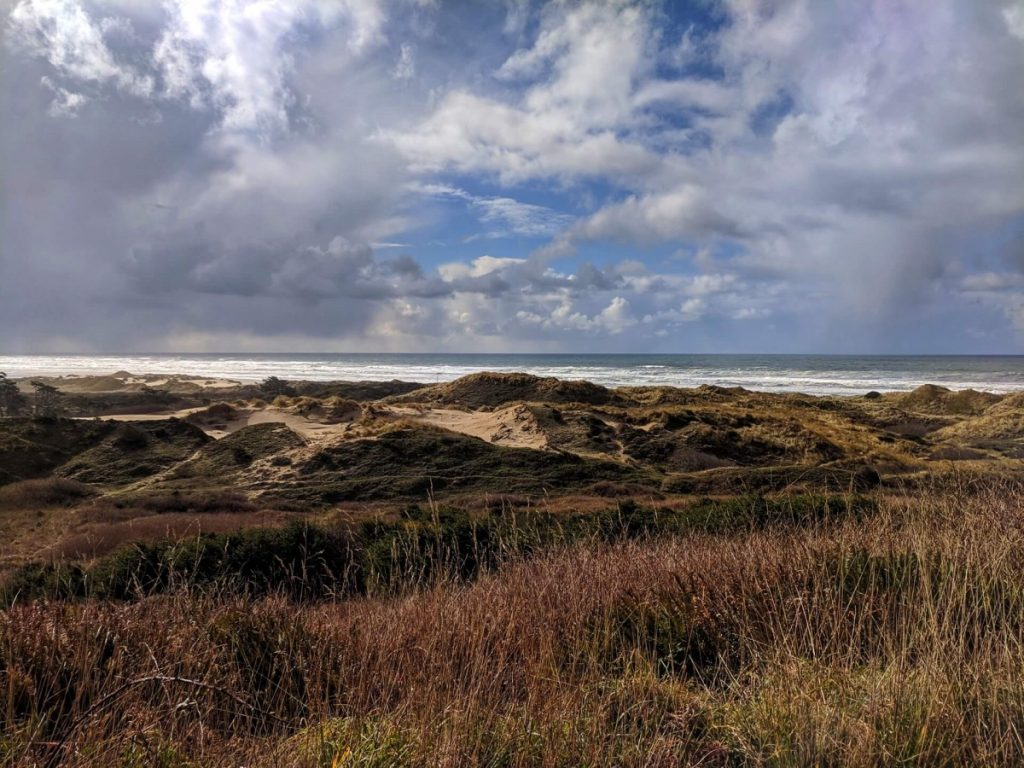 Oregon Dunes National Recreation Area - view from Oregon Coast road trip