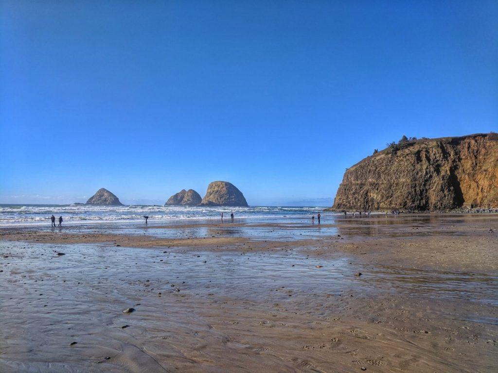 Three Arch Rocks at Oceanside Beach, Oregon