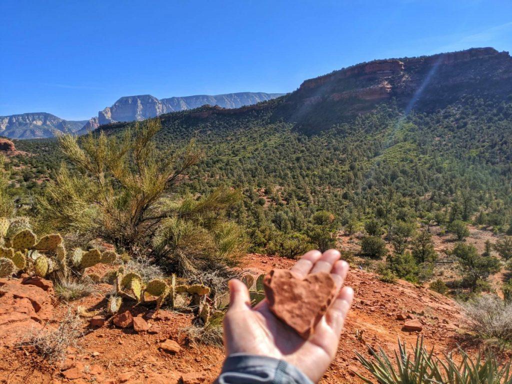 Heart stone at the Boyton Canyon vortexes