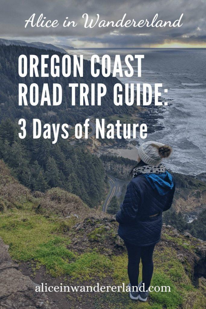 Cape Perpetua Viewpoint, Oregon Coast Road Trip Guide - Pinterest pin